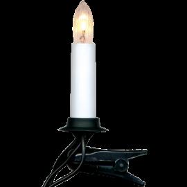 Julgransbelysning Vit 16 11cm , hemmetshjarta.se