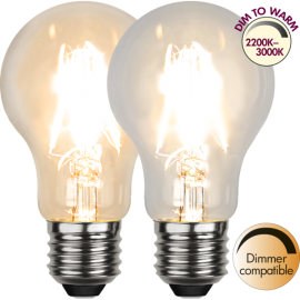 LED-Lampa E27 Ø60 Dim To Warm lm320/30w Clear , hemmetshjarta.se