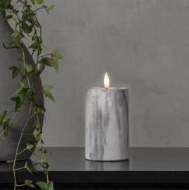 LED Blockljus Flamme Marble 15 cm , hemmetshjarta.se