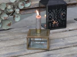 Ljushållare med förvaring 9 cm - antik mässing , hemmetshjarta.se