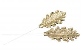 Eklöv/Stick Guld Poly 7cm 2-pack , hemmetshjarta.se