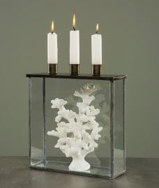 Glasbox med ljushållare Burn 22x7x25cm , hemmetshjarta.se