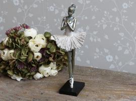 Ballerina stående H36 cm gammal. rosa , hemmetshjarta.se