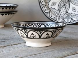 Marrakech Skål handmålad H8 / Ø20 cm svart , hemmetshjarta.se