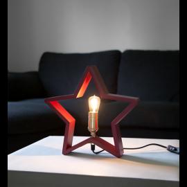 Bordsstjärna LYSeKIL 29cm Röd , hemmetshjarta.se