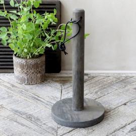 Laon Hushållspappershållare L28 / Ø14 cm kol , hemmetshjarta.se