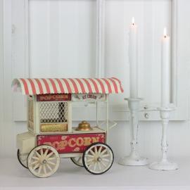 Dekoration Popcornvagn Creme 24 cm ** , hemmetshjarta.se