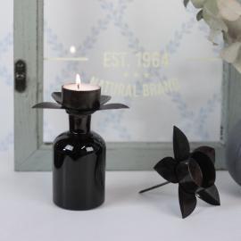 Hållare Värmeljus till flaska/dekoration - antikbrun 4-pack , hemmetshjarta.se