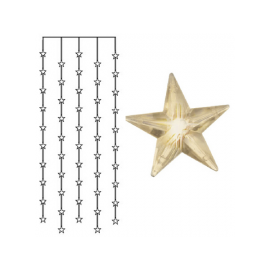 Dekorationsslinga EL Ljusgardin Star Varmvit 50 ljus 90x200cm , hemmetshjarta.se