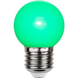 LED-lampa E27 Outdoor Lighting G45 Grön , hemmetshjarta.se