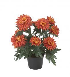 Konstgjord Chrysanthemum 30 cm Orange , hemmetshjarta.se