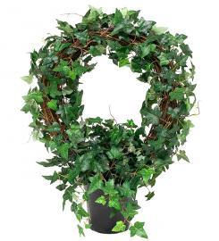 Konstgjord Murgröna planta på båge 75 cm , hemmetshjarta.se
