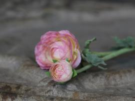 Fleur Ranunkel H40 cm rosa , hemmetshjarta.se