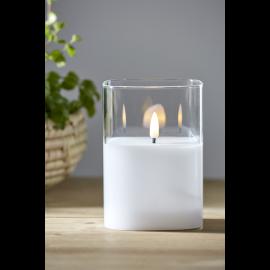 LED Blockljus Flamme Transparent , hemmetshjarta.se