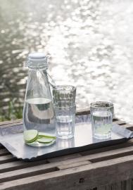 Flaska med vit patentlock 1000 ml , hemmetshjarta.se