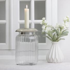 Ljushållare med glasburk 15 cm , hemmetshjarta.se
