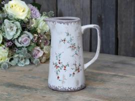 Tulle kanna med blommor H19.5 / L15.5 / B10.5 cm , hemmetshjarta.se