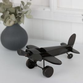 Flygplan 23x20x10 cm - antikbrun ** , hemmetshjarta.se