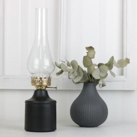Oljelampa till värmeljus 34 cm - svart , hemmetshjarta.se