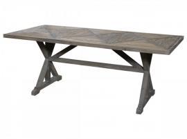 Franskt matbord i återvunnet trä H77 / L200 / W90 cm naturligt , hemmetshjarta.se