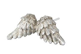 Änglavingar/Stick Silver Poly 8cm 2-pack , hemmetshjarta.se