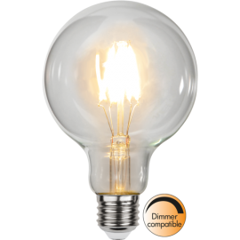 LED-Lampa E27 Ø95 Dim lm470/40w Clear , hemmetshjarta.se
