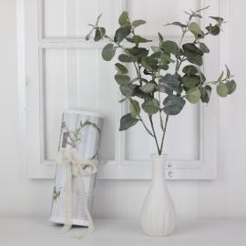 Konstgjord Eucalyptus med is , hemmetshjarta.se