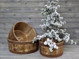 Vecka 42 Grimaud gl. kar i trä H17 / Ø30 cm naturligt , hemmetshjarta.se