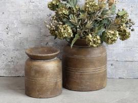 Vecka 40 Vas med spår för deco H28 / Ø24,5 cm mörk natur , hemmetshjarta.se