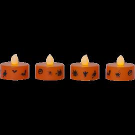 LED Värmeljus 4-pack Halloween , hemmetshjarta.se