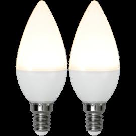 LED-Lampa E14 Ø37 lm250/25w Frostad Basic 2-pack , hemmetshjarta.se