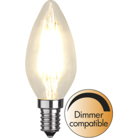 LED-Lampa E14 Ø35 Dim lm420/37w Clear , hemmetshjarta.se