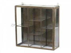 Skåp i glas för vägg H26 / L26 / B9 cm antik mässing , hemmetshjarta.se