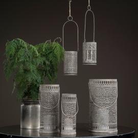 Lykta/Cylinder 3-pack - antikgrå , hemmetshjarta.se