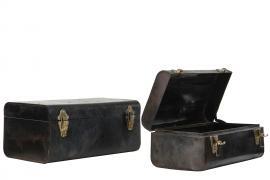Koffert Metall Vintage 44x27x21cm 2-pack , hemmetshjarta.se