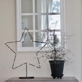 .Batteridriven Stjärna med LED ljusslinga , hemmetshjarta.se