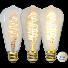 LED-lampa E27 Decoled Spiral Clear ST64 Dim 3-step , hemmetshjarta.se