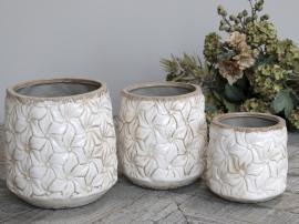 Colmar Kruka med blommor Keramik H15,5 / Ø14,5 cm antik creme 1 st , hemmetshjarta.se