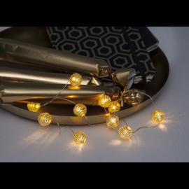 Ljusslinga Dew Drop Batteridriven Varmvit 10 ljus 90cm , hemmetshjarta.se