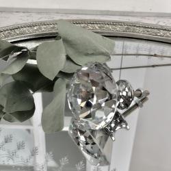 Knopp Diamant med flat topp 6x4 cm - glas , www.hemmetshjarta.se