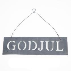 Skylt God Jul - zink , hemmetshjarta.se
