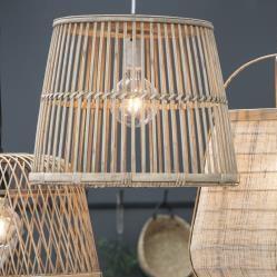 Taklampa med bambuskärm 34 cm , hemmetshjarta.se